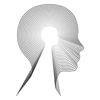 Concentric head. Conceptual image.