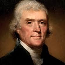 Thomas Jefferson, 3ème président des Etats-Unis et auteur de la déclaration d'indépendance.
